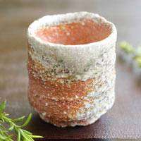 Shigarakiyaki Pottery Small Cup 80ml, Wood-fired Cup, Pure Hand-made by Kengo Saeki