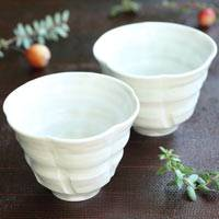 Hakuji Hineri-rinka Teacup 80cc (2 for 1 set) Made by Sho Kumamoto, Hand-Made in Japan, Sake Cup