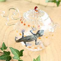 Glass Gekko Teapot, Pure Hand-made by Ryuta Mizukami 530xml, Made of Heat-resisitance Glass