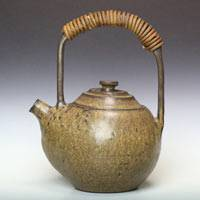 Can Directly Boil Water Pottery Kettle 750ml, Made by Yusuke Wakasa, Dobin with Tea Strainer