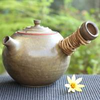 Wakasa Yusuke, fire resitant pottery teapot 780ml, Japanese kyusu that can directly simmer tea