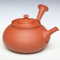 So Yamada, Tokonameyaki red-clay shudei kyusu 160ml, premium green tea teapot, wood box