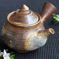 Kenji Kojima, Igayaki non-glazed wood-fired youhen teapot 290ml, Japanese sencha tea kyusu