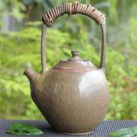Yusuke Wakasa, can directly boil water simmer tea pottery kettle 900ml, fire resistant kyusu teapot