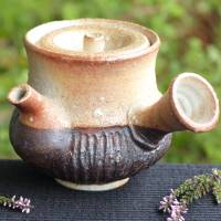 Kenji Kojima, Igayaki anagama wood-fired teapot 320ml, Japanese green tea tea kyusu
