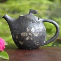 Emi Masuda, flower pattern tebineri hand-made teapot 150ml, back handle type sencha kyusu
