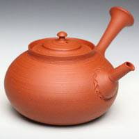 So Yamada, large capacity 400ml shudei red-clay green tea teapot