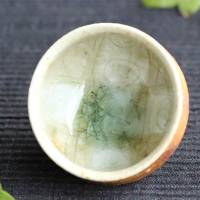 ​Kenji Kojima, Japanese Igayaki small tea cup 40ml, wood-fired pottery cup, wood box