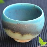 So Yamada, green tea yunomi cup, Japanese Tokonameyaki pottery cup, wood-fired