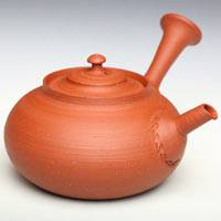 So Yamada, red clay shudei teapot 220ml teapot, Japanese Tokonameyaki pottery kyusu in wood box