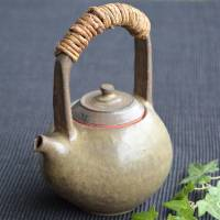 Yusuke Wakasa, can directly boil water simmer tea pottery kettle 690ml, fire resistant kyusu teapot