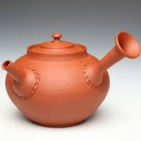 Sou Yamada, Japanese Tokonameyaki red clay shudei teapot 330ml, pure hand-made green tea teapot