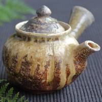 Kenji Kojima, Igayaki haikaburi youhen kyusu 320ml, wood-fired yakishime teapot, wood box