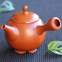 Setsudo, shudei Tokonameyaki teapot with legs and inro-lid 330ml, pure hand-made tea strainer