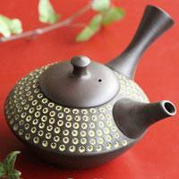 Shuho(deceased), inka stamp pattern Japanese Tokonameyaki teapot  sencha kyusu 320ml