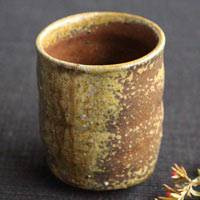 Yoshinobu Morimoto, Japanese Bizenyaki yunomi-chawan, authentic wood-fired tea cup 320ml