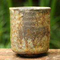 Yoshinobu Morimoto, Bizenyaki yunomi, pottery green tea cup, non-glazed wood-fired 300ml