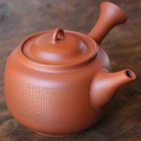 Jozan Yamada the 3rd(national treasure), shudei saiji (tiny letter) carved teapot 230ml