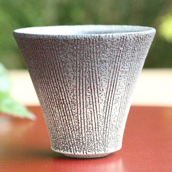 Tanbayaki pottery cup 80ml, Japanese Tanbayaki cup hand-made by Takeshi Shimizu