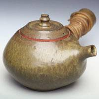 Can direclty simmer tea/boil water teapot 470ml, Japanese sencha kyusu, hand-made by Yusuke Wakasa