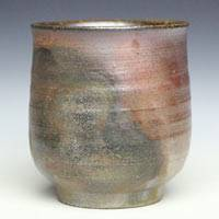 Fumiharu Kino, Japanese Bizenyaki yunomi chawan 180ml  wood-fired non-glazed cup 180ml