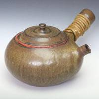 Can-direclty-simmer-tea/boil water teapot 640ml, Japanese kyusu, hand-made by Yusuke Wakasa