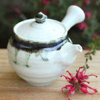 Sho Kumamoto, green tea sencha kyusu 170ml, hand-made ceramic teapot, direct shipping from Japan