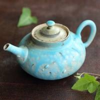 So Yamada, blue teapot 130ml, premium Japanese green tea kyusu, Tokonameyaki