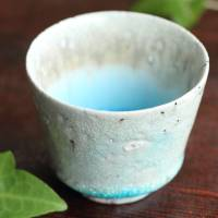 "So Yamada, ""blue"" cup 80ml, Japanese pottery small cup, sake cup"