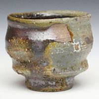 Fumiharu Kino, Japanese Bizenyaki small cup, wood-fired pottery cup 80ml