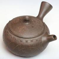"Toju, ""愛美真"" Japanese Tokonameyaki side-handle teapot, sencha green tea kyusu 240ml"