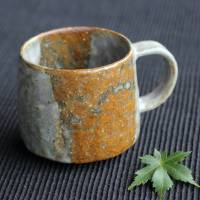 Emi Masuda, two color mug cup, coffee cup, pottery teacup 200ml