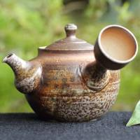 Igayaki Wood-fired Pottery Kyusu 200ml, Green Tea Teapot, Hand-mMade by Manabu Minamide