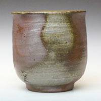 Bizenyaki potter Fumiharu Kino, Japanese yunomi tea cup 170ml  wood-fired non-glazed cup