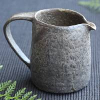 Pottery yuzamashi with handle water cooler 350ml  milk pitcher, tebineri-made by Emi Masuda