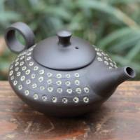Shuho(deceased), inka stamp pattern Japanese Tokonameyaki teapot back-handle type 300ml