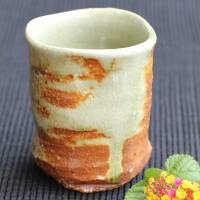 ​Kenji Kojima, Japanese Igayaki yunomi tea cup 240ml, green tea cup, beer cup, wood-fired