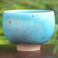 So Yamada, blue cup L size, green tea yunomi cup, Japanese tea cup, beer cup