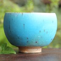 So Yamada, wood-fired blue cup, green tea Japanese yunomi cup