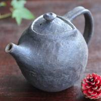 Emi Masuda, back-handle type tebineri made black kyusu 290ml, sencha green tea teapot