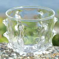 Ryuta Mizukami, made of heat resistant glass, gizagiza cup, pure hand-made glass tea cup 170ml