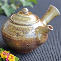 Pottery artist Kenji Kojima, Japanese Igayaki wood-fired teapot, green tea kyusu 330ml