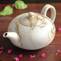 Jinshu, Seiji Itoh, white mogake large kyusu 530ml, handle type afternoon tea teapot, Tokonameware