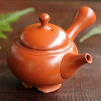 Setsudo, Tokonameyaki shudei teapot, with inro-lid and legs 150ml, pure hand-made tea strainer