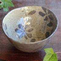 Emi Masuda, tebineri made flower pattern bowl, donburi, big rice chawan, salad bowl, ramen bowl