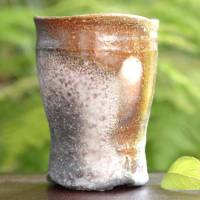 Kenji Kojima, Japanese Igayaki wood-fired youhen yunomi tea cup 220ml, green tea cup, beer cup