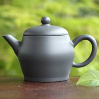 Gafu Itoh, Japanese Tokonameyaki black clay back handle kyusu teapot 160ml
