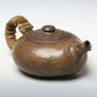 Yusuke Wakasa, can directly boil water and simmer tea 240ml, fire resistant teapot, wood box
