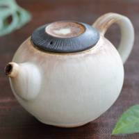 Nobuhito Nakaoka, partially gold saishoku haiyu back-handle teapot 170ml, small kyusu, wood box