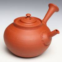 So Yamada, red-clay teapot 260ml, Japanese Tokonameyaki shudei green tea sencha kyusu